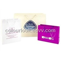Custom Hot Stamped Matte Laminate Shopping Bags