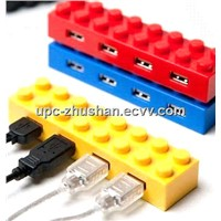 Promotional Gift Mini Block USB 2.0 4 Port Hub