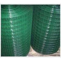 Galvanized Wire Mesh Netting Green Color 101.6mm*50.8mm Green Plastic Coated Netting