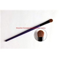 Individual Cosmetic/Makeup Eyeshadow Brush, Goat Hair, Wood Handle, Aluminium Ferrule