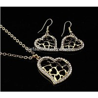 Jewelry sets set heart collection hollow design hook earring necklace  F01070129