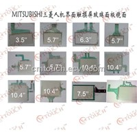 Mitsubishi Touch Screen Membrane Glass Panel Repair Replacement (GT1040-QBBD/GT1045-QBBD)