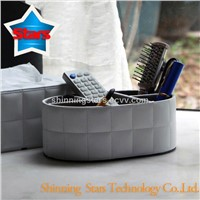 PU Leather Storage Desktop Organizer