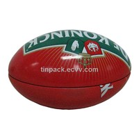 Rugby-Shaped Tin box