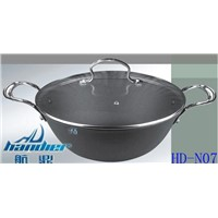 Senior Non-stick Cast Iron Pan with Glass Lid(HD-N07)