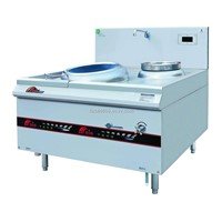 Single burner Chinese wok range with tail