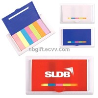 Sticky Memo Flags in Plastic Ruler Case