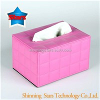 Table Decoration Leather Tissue Holder