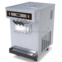 Stainless Steel Table Top Frozen Yogurt Making Machine, 2 + 1 Mixed Flavors for Commercial Use