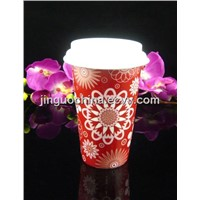 Promotional Porcelain Double Wall Cup