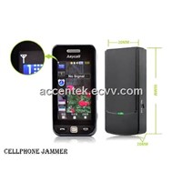 Portable Mobile Phone Signal Jammer Wireless Isolator Blocking 3G/GSM/CDMA/DCS/PHS/GPS/WiFi/Bluetooth Inbuilt Antenna
