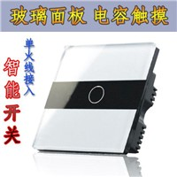 1 Gang Touch light Switch White glass