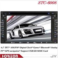 2 DIN DVD STC-6008 Car Players (GPS) /Universal Double DIN Car DVD MP5 Player