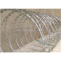 Anping Haotian Razor Barbed Wire / Concertina Wire for safety