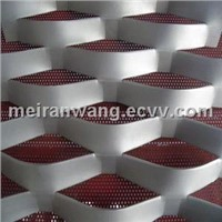 PVDF Coated Aluminum expanded metal curtain wall mesh