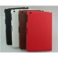 Black PU leather cases for iPad Mini