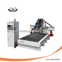 CNC Engraving Machine with Rotary Carrousel Changing Tools