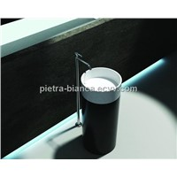 Competent Solid Surface Black Bathroom Sinks PB2173