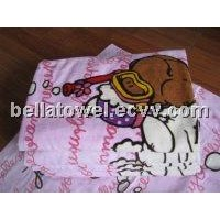 Cute 100% cotton Reactive printed beach towel