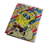 Cute Soft Cover Spiral Notebook For Kids (S-006)