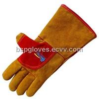 Deluxe Golden Cow Split Leather With Aramid Fiber Sewed Welding Work Gloves BGCW206WFK
