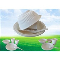 Dispostable corn starch biodegradable tablware