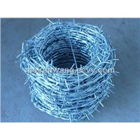 Double Twist anti-theft Barbed Wire/galvanized barbed wire