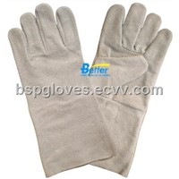Economical Style Natural Color Cow Split Leather No Lining Welding Work Gloves BGCW003