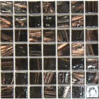 European style gold line glass mosaic black ZJ726