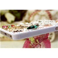 Fashionable Splendid Case for Iphone 5, Swarovski Rhinestones Crystal