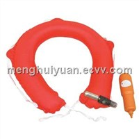 Inflatable lifesaving buoy Ring