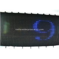 LED Soft Wall Screen PC Mode+SD Card 3in1 RGB P7 2M*4M 1596 leds LED Video Curtain, Star Curtain