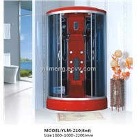 Luxury and Fashioanble Steam Shower Room in Red ABS