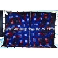 P18 2M*3M SD Card 176 LEDS LED Vision Curtain,LED Vision Cloth, LED Video Curtain/Wedding Decoration