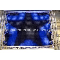 PC Mode RGB 3in1 P9 2M*3M 726 leds LED Video Curtain For DJ Wedding Backdrops,LED Vision Curtain