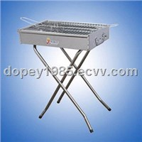 Rotating stainless steel barbecue