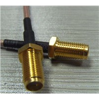 SMA Female Crimp window Connector for RG178 Cable