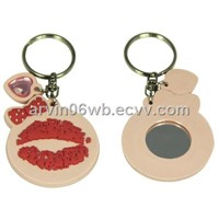 Secy Lips Design Key Chain with Mirror