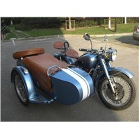 Shinny Blue Motorcycle Sidecar Tricycle