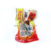 Vacuum Food Storage Bag, Plastic Food Packaging Bags With Color Logo Printing, Hanging Hole
