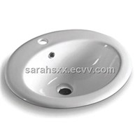 ceramic round abover counter basin 8401