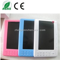 cheapest 7'' inch ebook reader with high resolution OEM from top manufacturer