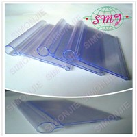 custom transparent plastic  price tag label holder ,data strip ,tag strip