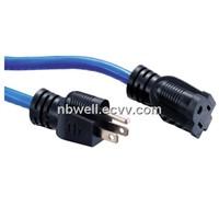 2-pole 3-wire Plug NEMA 5-15P&5-15R 15A 125V~  Extension Cords