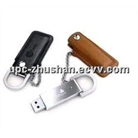Hot Gifts Keychain Leather 8GB 16GB 32GB USB Mass Storage