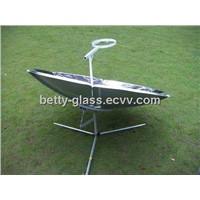 Solar Cooker, Steel Sheet Cooker Surface, High Heat Solar Stove