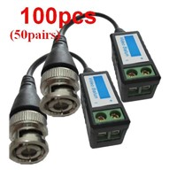 100PCS CCTV Camera Passive Video Balun BNC Connector Cat5 UTP Coaxial line