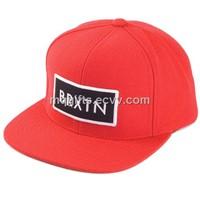 100% cotton Plain snapback BRXTN customized flat cap