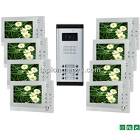 30% off New 6Languages Memory 7inch Screen 8-apartment VDP System