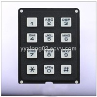 3X4 small plastic mobile phone keypad
